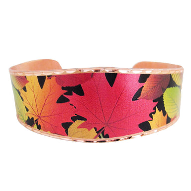 Fall Leaves Collection Copper Bracelet - Oscardo