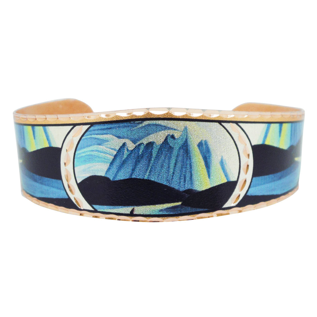 Lawren Harris Lake and Mountains Artist Collection Copper Bracelet