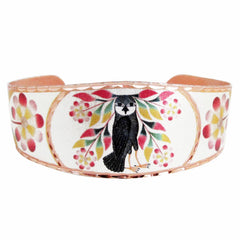 Kenojuak Ashevak Owl's Bouquet Artist Collection Copper Bracelet