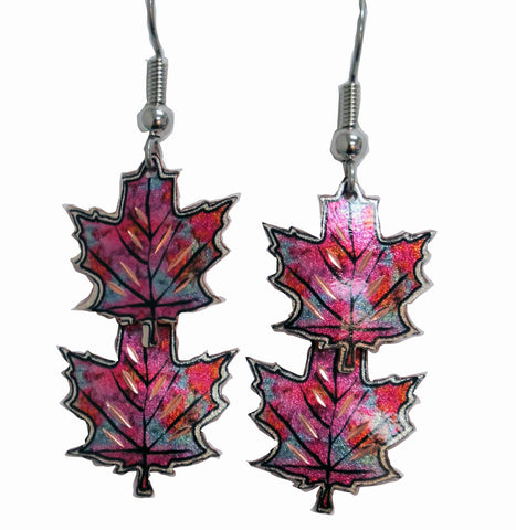Maple Leaves Copper Earrings