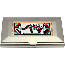 Native Bear Colourful Business-Credit Card Case