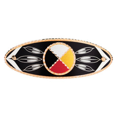 Medicine Wheel Hair Clip