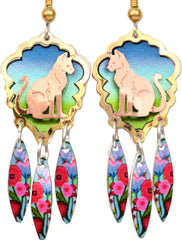 Cat Colourful Cut-out Earrings