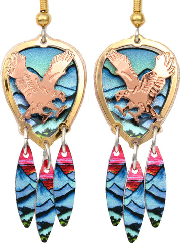 Eagle Colourful Cut-out Earrings