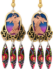 Angel Colourful Cut-out Earrings - Oscardo