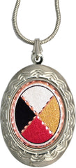 Medicine Wheel Colourful Locket