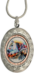 Horse Colourful Lynn Bean Locket