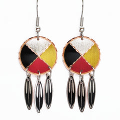 Medicine Wheel Collection Copper Earrings