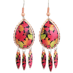 Fall Leaves Collection Copper Earrings
