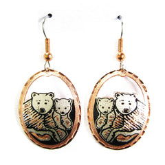 Bear and Cub CN Series Earrings