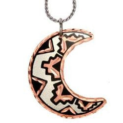 Moon / Star  Copper Necklace
