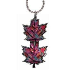 Maple Leaves Copper Necklace