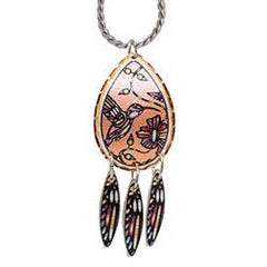 John Rombough Hummingbird Artist Collection Copper Multiple Necklace