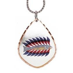 Kenojuak Ashevak Luminous Char Artist Collection Copper Necklace - Oscardo