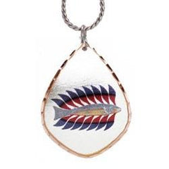 Kenojuak Ashevak Luminous Char Artist Collection Copper Necklace