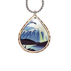 Lawren Harris Lake and Mountain Artist Collection Copper Necklace