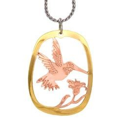 Hummingbird Cut-out Necklace - Oscardo