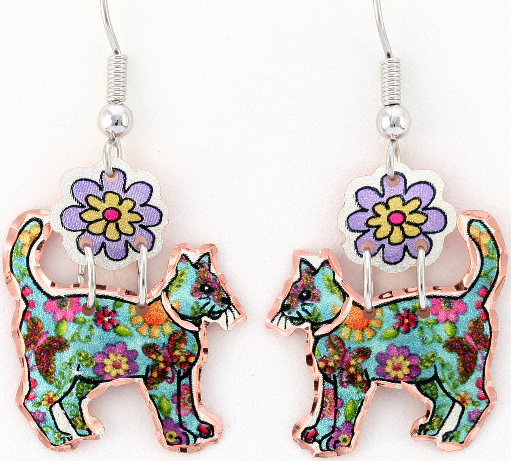 Cat Colourful Multiple Earrings