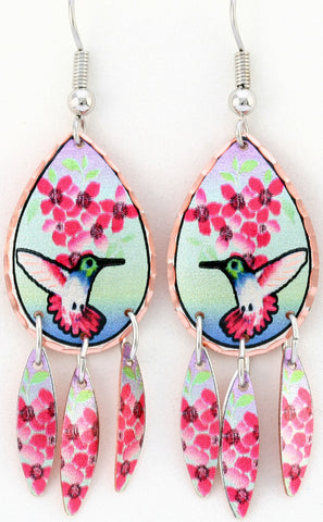 Hummingbird Colourful Multiple Earrings