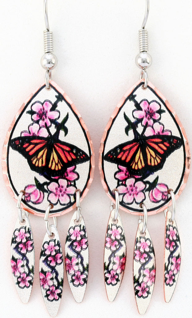 Butterfly Colourful Multiple Earrings