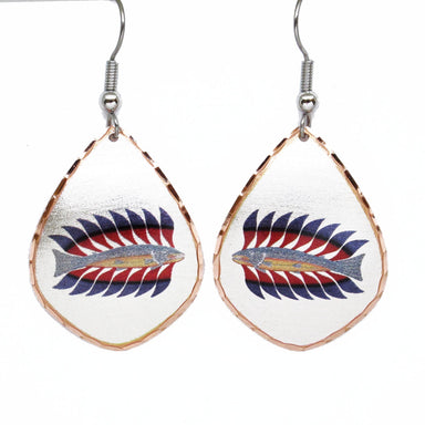Kenojuak Ashevak Luminous Char Artist Collection Copper Earrings - Oscardo
