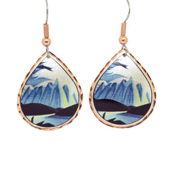 Lawren Harris Lake and Mountains Artist Collection Copper Earrings