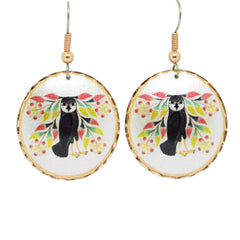 Kenojuak Ashevak Owl's Bouquet Artist Collection Copper Earrings
