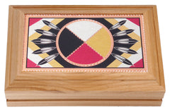 Medicine Wheel Wooden Box