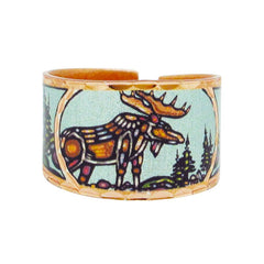 John Rombough Moose Artist Collection Copper Ring