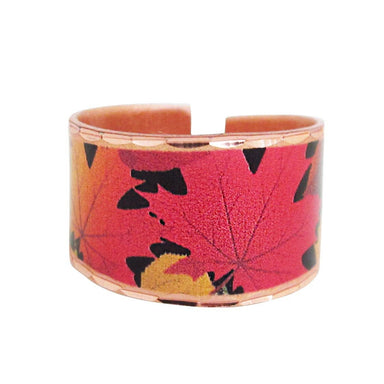 Fall Leaves Collection Copper Ring - Oscardo