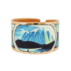 Lawren Harris Lake and Mountains Artist Collection Copper Ring