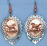 Horse Cloud Earrings