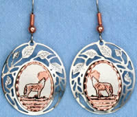 Wolf Cloud Earrings