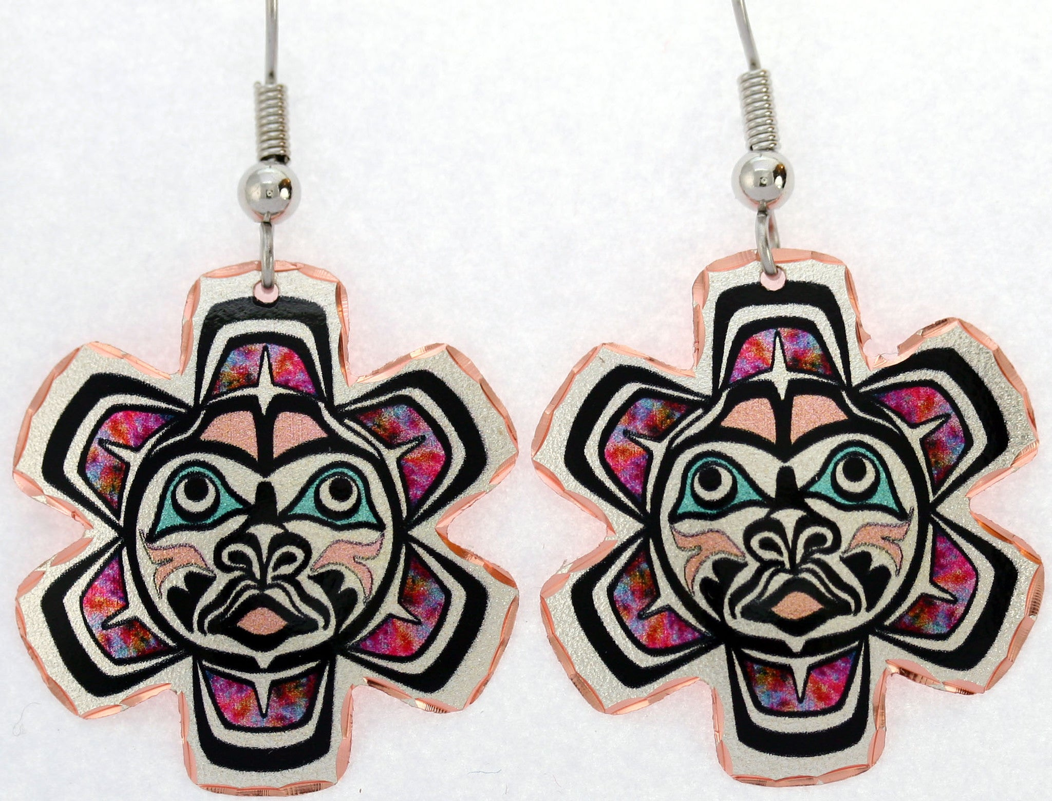 Native Sun Colourful NW Native Earrings