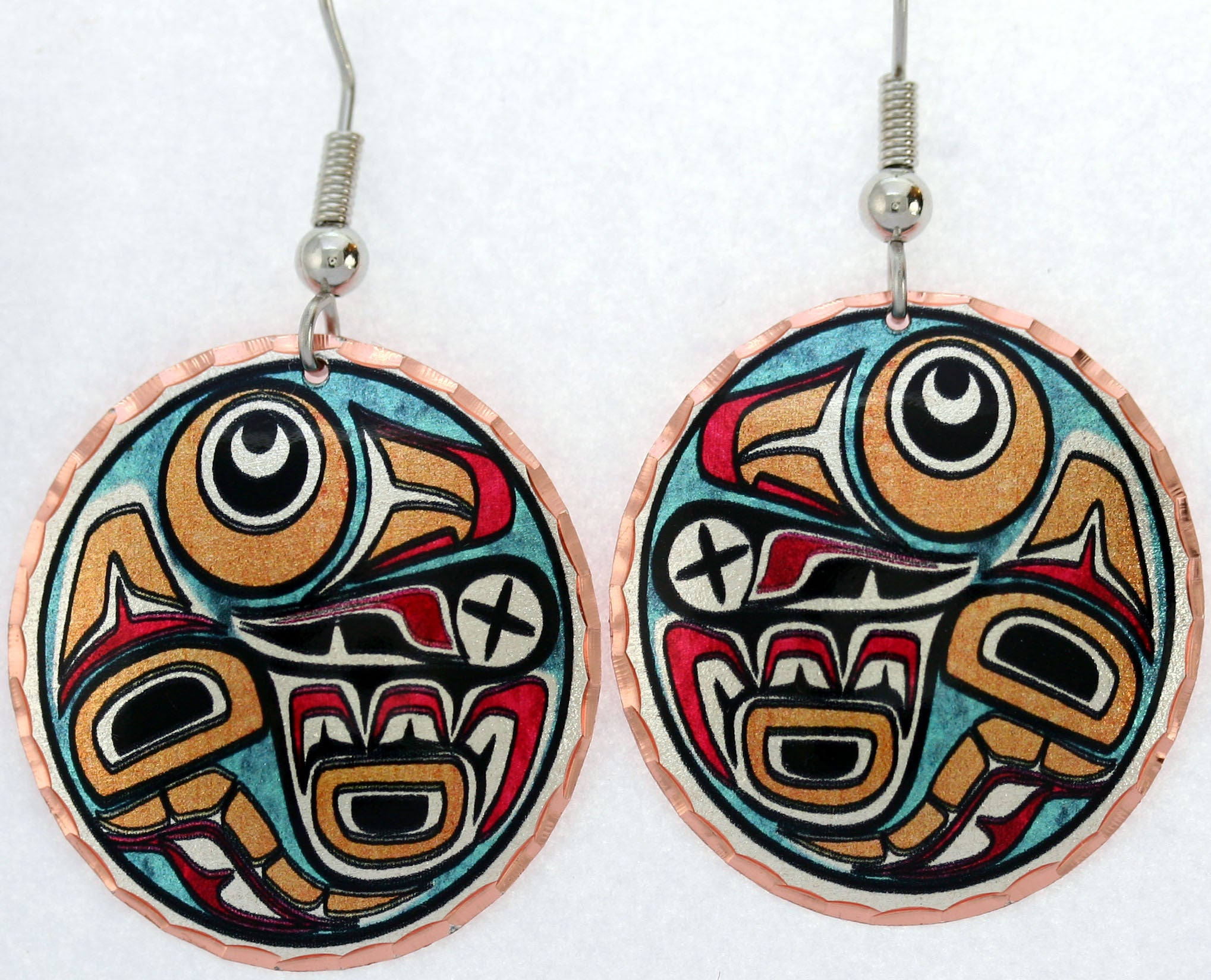 Native Raven Colourful NW Native Earrings