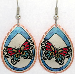 Butterfly Colourful NW Native Earrings