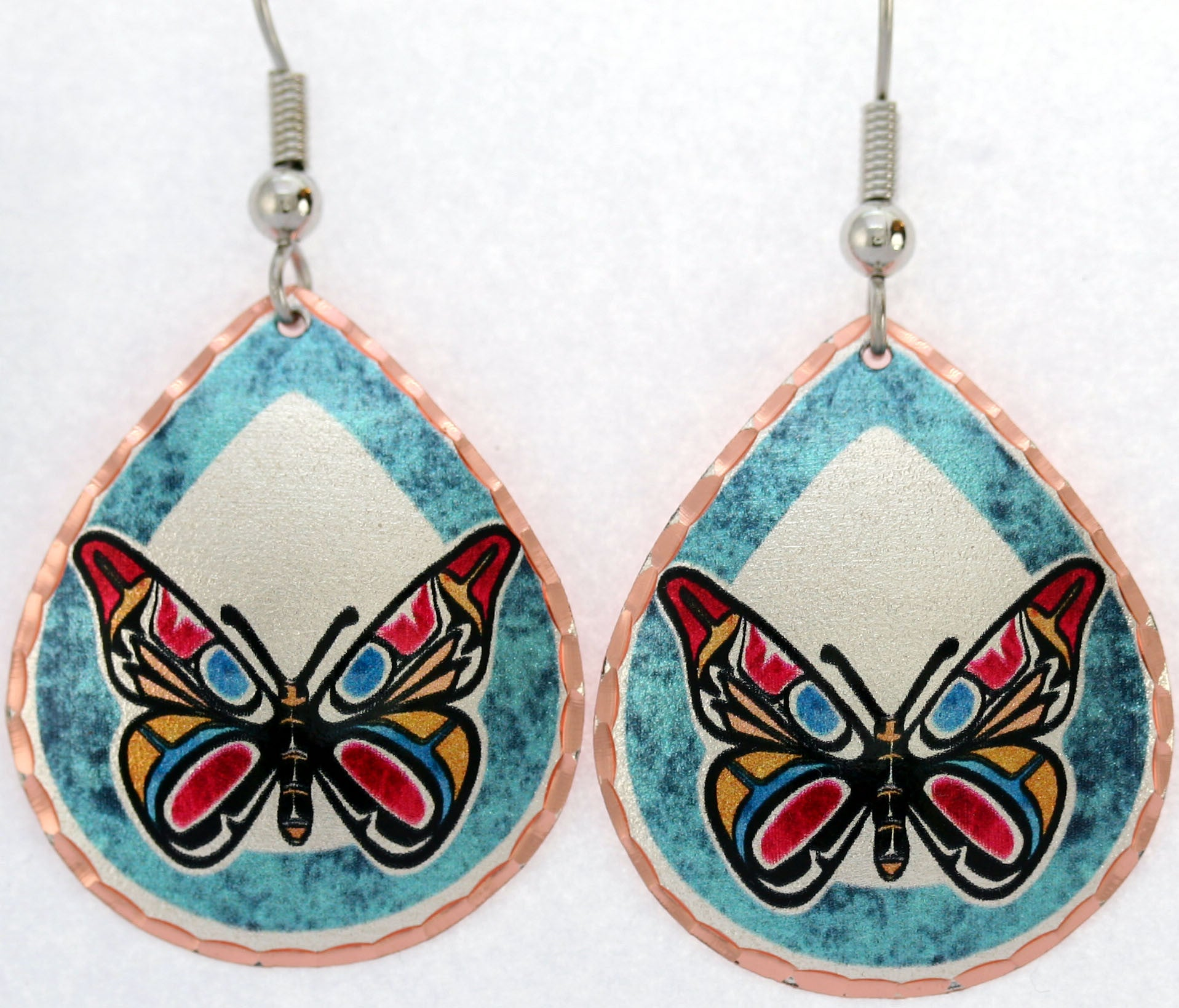 Native Butterfly Colourful NW Native Earrings