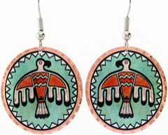 Native Eagle Colourful Native Earrings
