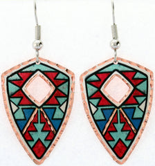 Native Design Colourful Native Earrings