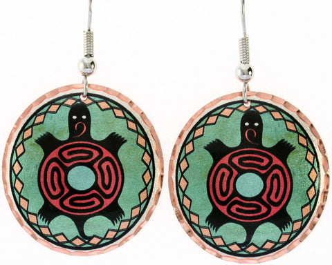 Native Turtle Colourful Native Earrings