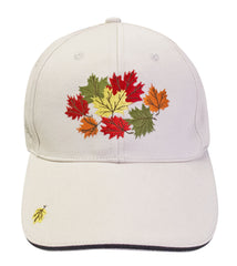 'Cluster Leaves' Embroidered Baseball Cap - Oscardo