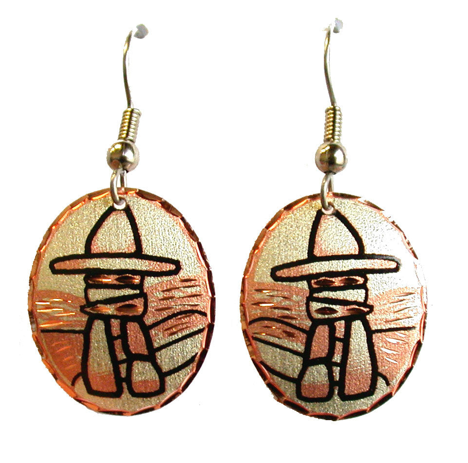 Inukshuk Copper Earrings