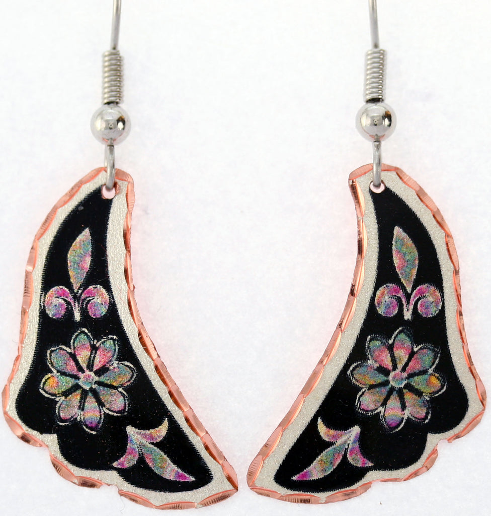 Floral Design Colourful Flower Earrings