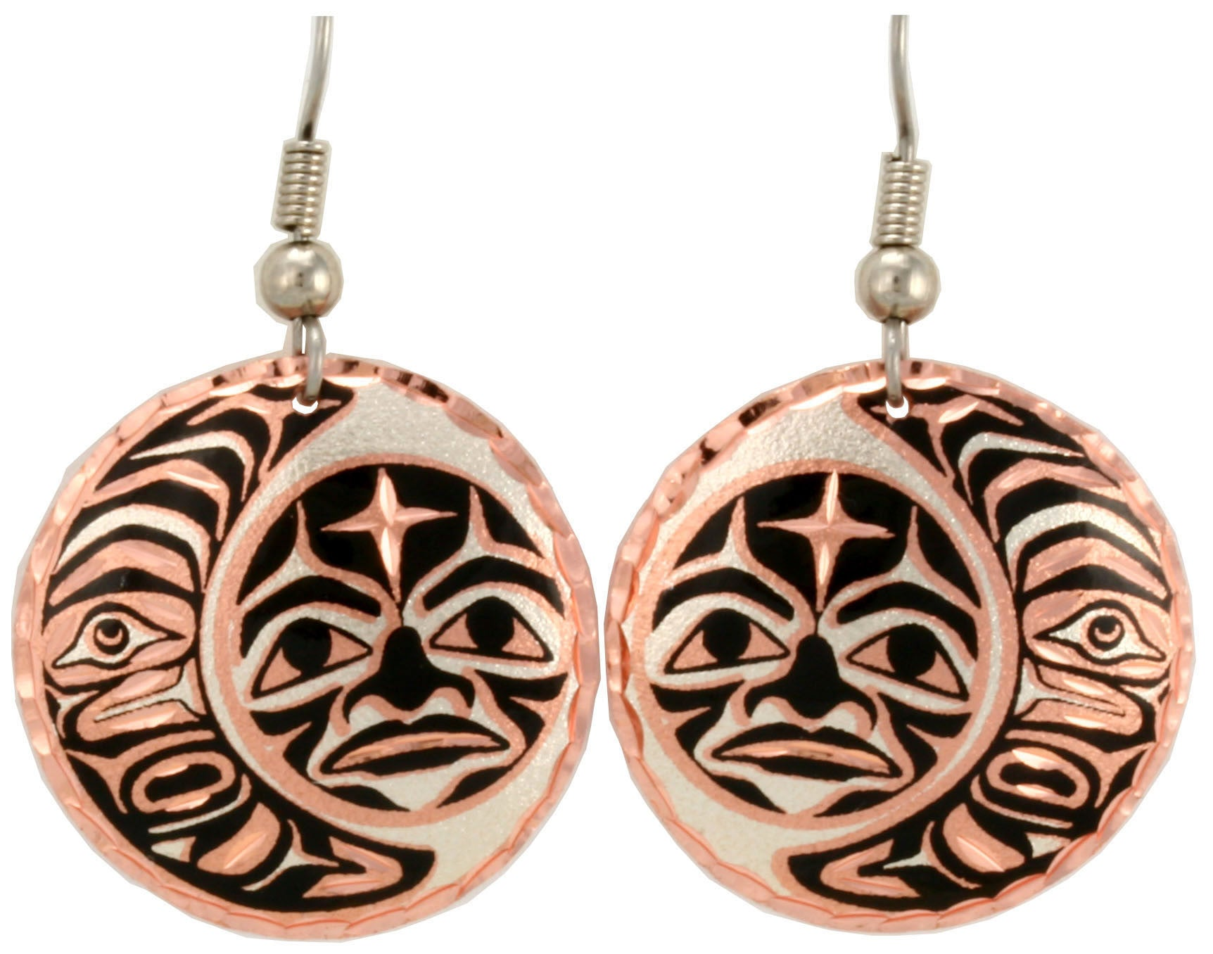 Native Moon Copper Earrings