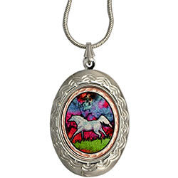 Horse Colourful Locket