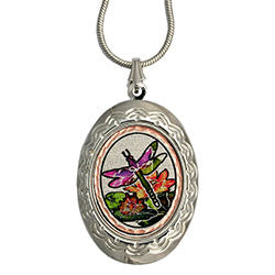 Dragonfly Colourful Locket
