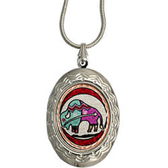 Native Caribou Colourful Locket