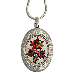 Maple Leaf Colourful Locket