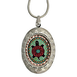 Native Turtle Colourful Locket