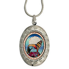 Wolf Colourful Locket